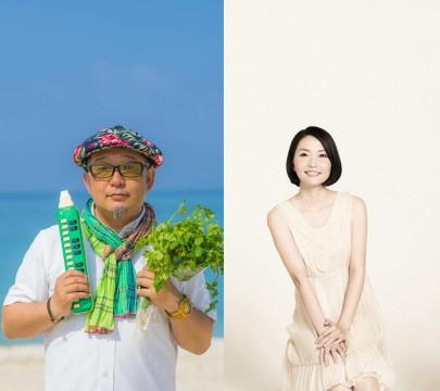 「SUMMER SPECIAL LIVE by RAMO FRUTAS CAFE」 出演者/左からDJ SASA,金城美織