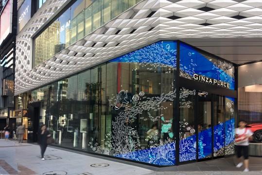 「GINZA PLACE」エントランス掲出イメージ