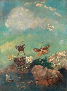 《蝶と花》1910-1914年 水彩(木炭?)/紙 プティ・パレ美術館蔵 ©Petit Palais / Roger-Viollet