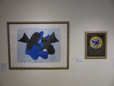"""Black's work has a motif repeatedly drawn from the beginning. The """"Pereas and Nereus"""" on the left is one of them"""