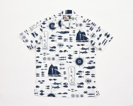 アロハシャツ〈パイカジ・和光限定〉税込¥30,240(レクセル100%、M〜LLLサイズ)
