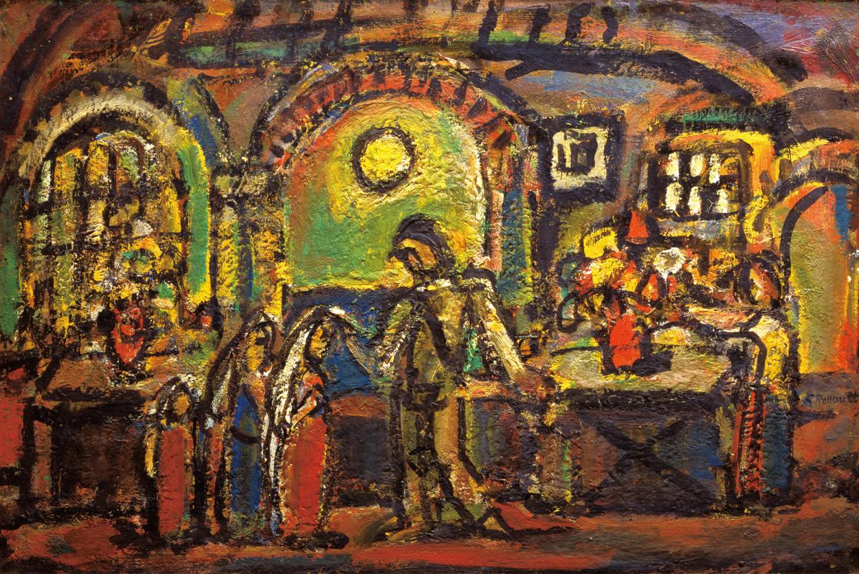 《キリストとの親しき集い》1952年、油彩、個人蔵(ルオー財団協力)