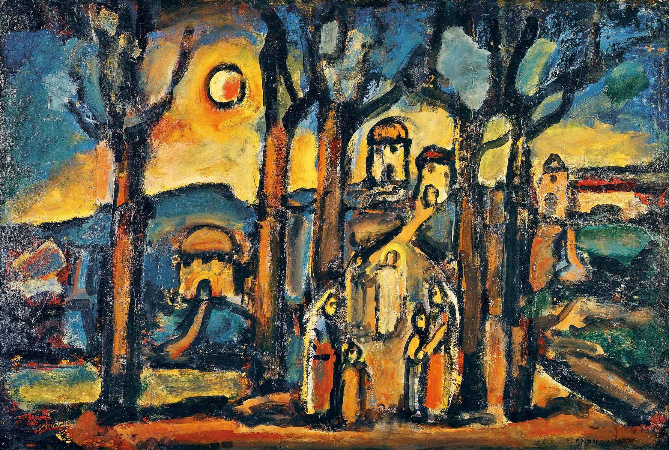 《秋 または ナザレット》1948年、油彩、ヴァチカン美術館蔵、Photo © Governatorato S.C.V. - Direzione dei Musei