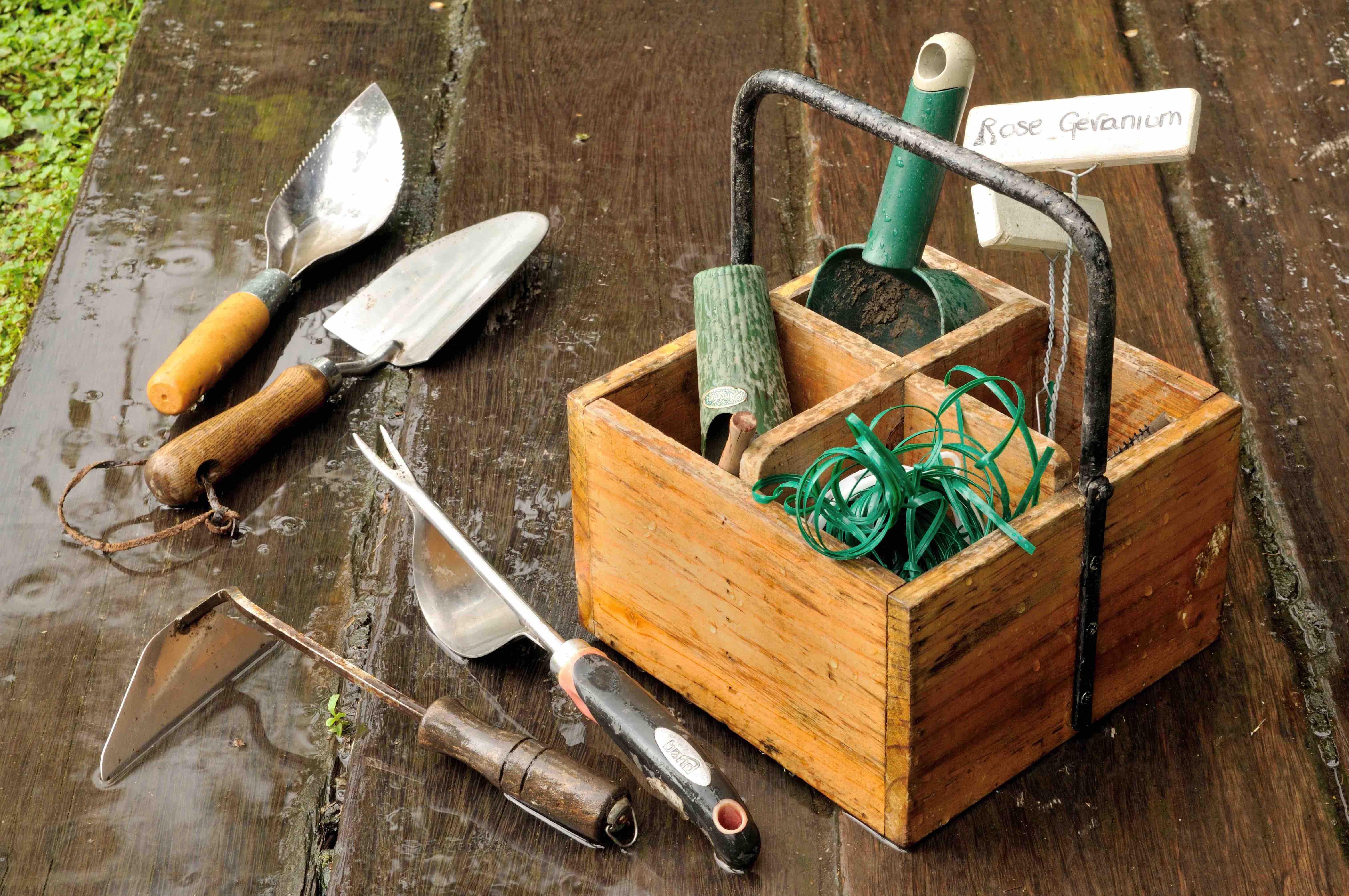 庭仕事の道具たち 写真撮影=梶山正