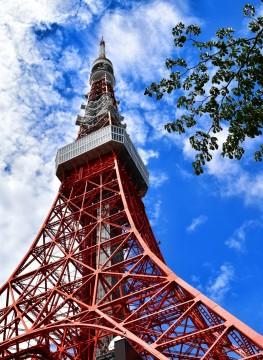 Tokyo Tower which looks close