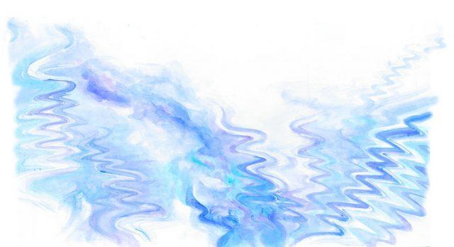 ウォールアートデザインイメージ=春を待つ、雪解けの雪氷